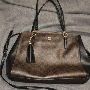 Coach Monogram purse brown black gold